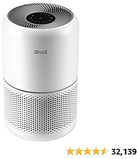 LEVOIT Air Purifier for Home Allergies and Pets Hair Smokers in Bedroom, H13 True HEPA Filter -amazon