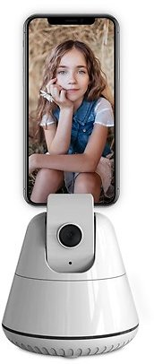 NeonTek NH006 Cell Phone Holder with AI Tracking Camera, White