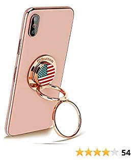 'OOBUTTON USA' - Phone Ring Stand Holder, Cell Phone Ring Holder Finger Grip 360° Degree Rotation Compatible with IPhone IPad Smartphones Tablet,Rose Gold
