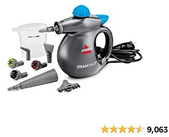 BISSELL SteamShot Hard Surface Steam Cleaner, Multi-Surface Tools Included to Remove Dirt, Grime, Grease, and More, 39N7V , Silver