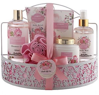 7 Piece Wild Rose and Raspberry Body Care Gift Set