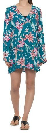 La Blanca Flyaway Orchid Tunic Beach Cover-Up - Long Sleeve (For Women)
