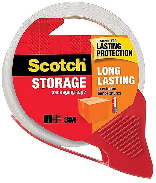 Scotch® Long Lasting Storage Packing Tape with Dispenser, 1.88