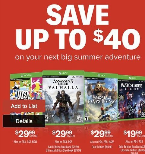 Up to $40 Off Xbox & PlayStation Games