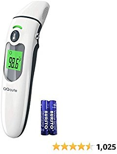 QQcute Infrared Thermometer for Fever, Touchless Thermometer for Adult and Kids, Forehead and Ear Thermometer, Digital Thermometer for Adults, Children, Babies