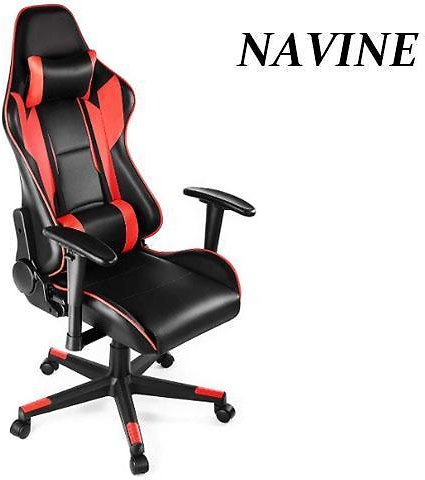 NAVINE Ergonomic Gaming Chair Racing Style Computer Chair Adjustable Height High Back PC Computer Chair With Headrest and Lumbar Support Executive Office Chair - Newegg.com