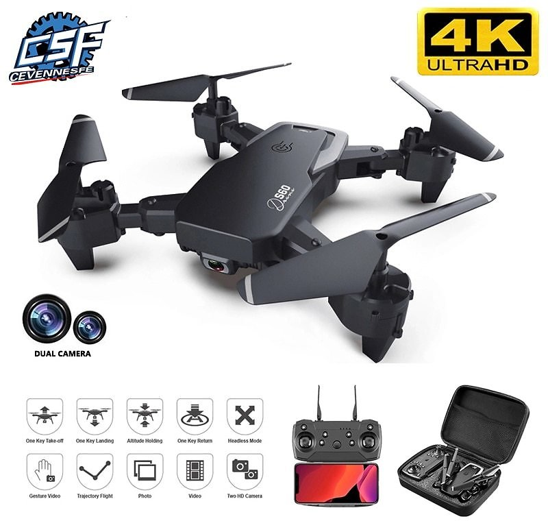 90% OFF|2021 NEW Drone 4k Profession HD Wide Angle Camera 1080P WiFi Fpv Drone Dual Camera Height Keep Drones Camera