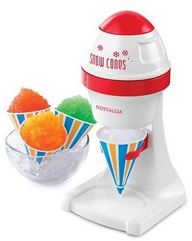 Nostalgia ISM1BL Electric Shaved Ice & Snow Cone Maker, Blue