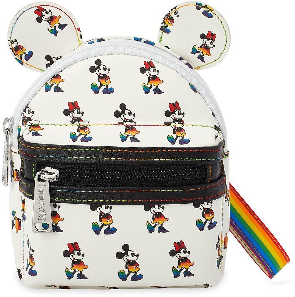 Mickey and Minnie Mouse Loungefly Wristlet – Rainbow Disney Collection   ShopDisney