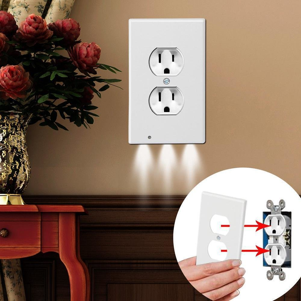 69% OFF! 4-Pack: LED Night Light Outlet Cover - Assorted Styles