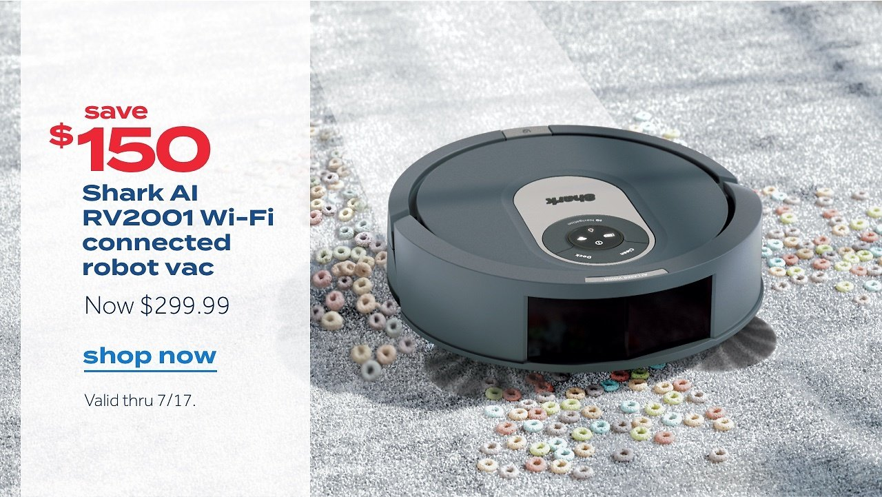 Shark AI RV2001 Wi-Fi Connected Robot Vacuum with Advanced Navigation | Bed Bath & Beyond