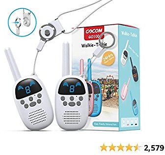 GOCOM Walkie Talkies for Kids, Kids Toys Handheld Child Gift Walky Talky, Two-Way Radio Boys & Girls Toys Age 4-12, for Indoor Outdoor Hiking Adventure Games