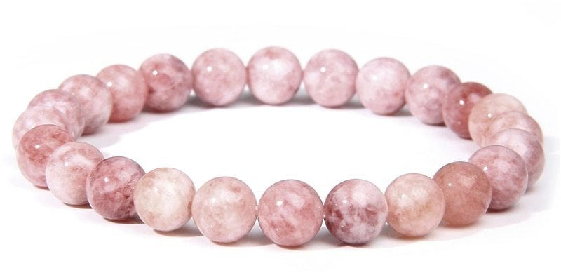 45% OFF Fashion Natural Stone Pink Angelite Beads Bracelet