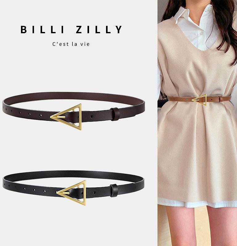 66% OFF Triangle Buckle Thin Belt