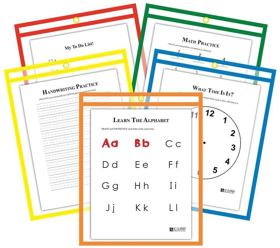 64% OFF! 25-Pack: Reusable Dry Erase Pockets - Assorted Colors