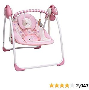 (15% OFF) Soothing Portable Swing Comfort Electric Baby Rocking Chair with Mosquito Net