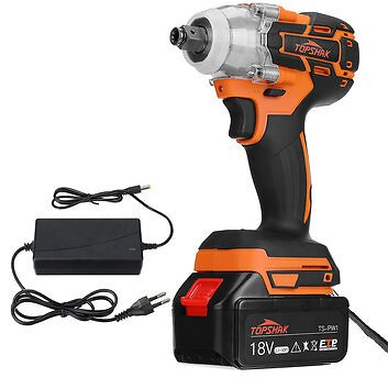 Topshak TS-PW1 Brushless Impact Wrench LED 15000mAh Rechargeable Woodworking Maintenance Tool W/ Battery