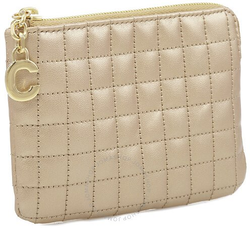 63% Off C Charm Quilted Calfskin Card and Coin Case