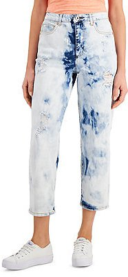 Petite High Rise Straight-Leg Ankle Jeans