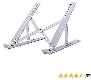 Laptop Stand Portable, Tablet Stand, Adjustable Aluminum Laptop Computer Stands,Ergonomic Foldable Ventilated Cooling Desktop Holder Compatible with MacBook Air Pro, Dell XPS,Lenovo, Dell, More