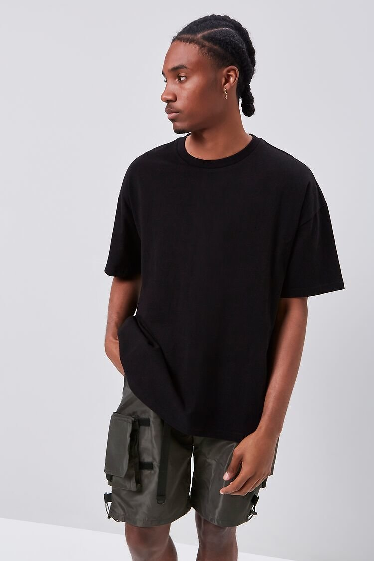 Release-Buckle Belted Cargo Shorts | Forever 21
