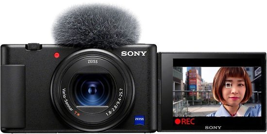Sony ZV-1 20.1-Megapixel Digital Camera for Content Creators and Vloggers Black DCZV1/B
