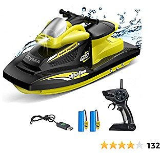RC Boat for Kids, SYMA 2.4GHz Q10 Remote Control Boats for Pools and Lakes with 40 Mins Play Time, Double Power, Low Battery Reminder, Speed Motorboat Toys Gift for Boys, Girls, Beginners Adults