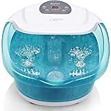 Foot Spa/Bath Massager with Heat, Bubbles, and Vibration, Digital Temperature Control, 16 Masssage Rollers with Mini Detachable Massage Points, Soothe and Comfort Feet: Health & Personal Care