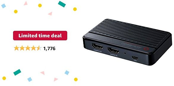 Limited-time Deal: AVerMedia Live Gamer Mini Capture Card 1080p 60 Video Streaming and Recording, H.264 Hardware Encoder Xbox, Nintendo Switch. HDMI Plug and Play to PC and Mac (GC311)