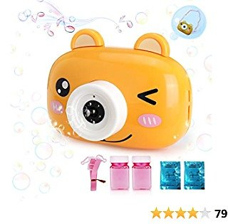 Camera Bubble Machine for Kids Toddlers Outdoor -Bubble Toys -Automatic Bubble Maker Machine for Kids -Bubble Blower Machine with Music Portable for Battery Operated Party Wedding Indoors Outside