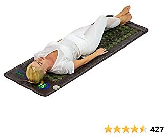 HealthyLine Far Infrared Heating Pad - Natural Jade and Tourmaline Stones - Easy to Roll-up - Mesh JT Mat Full 7224 Soft Light InfraMat Pro®