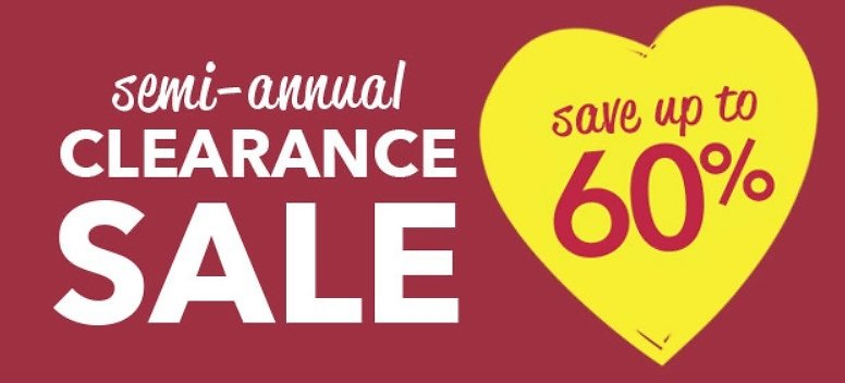 Up to 60% Off Semi-Annual Clearance
