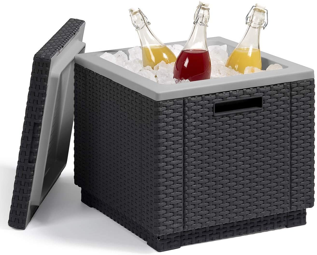 Keter Ice Cube Beer and Wine Cooler Table, Graphite