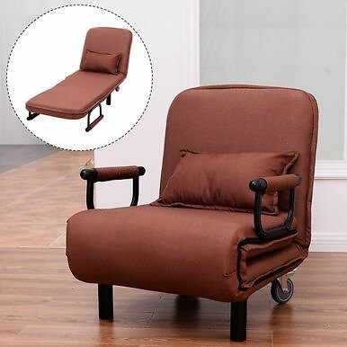 Convertible Foldout Sofa Bed Reclining Arm Chair