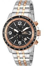 Men's Specialty Chronograph Stainless Steel Black Dial Watch