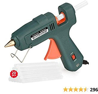 Hot Glue Gun 17% OFF,Upgraded Powerful 100W Glue Gun Kit with 20PCS Glue Sticks,Tool for DIY Projects,Craft Supplies