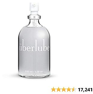 Überlube Luxury Lubricant   Latex-Safe Natural Silicone Lube with Vitamin E   Unscented, Flavorless, Zero Residue, Works Underwater - 100ml