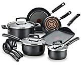 T-fal A821SA Initiatives Nonstick Inside and Out, 10-Piece, Black: Home & Kitchen