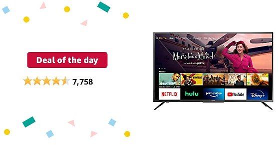 Deal of The Day for Prime Members: Toshiba 50LF621U21 50-inch Smart 4K UHD with Dolby Vision - Fire TV Edition, Released 2020