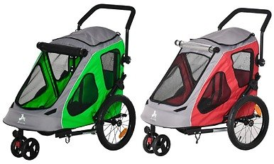 Pet Stroller with Mesh Windows, Brakes, and Cup Holder