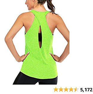 ICTIVE Womens Cross Backless Workout Tops for Women Racerback Tank Tops Open Back Running Tank Tops Muscle Tank Yoga Shirts