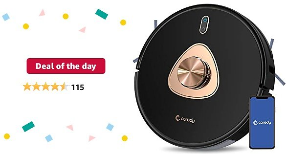 Deal of The Day: Coredy L900 Robot Vacuum Cleaner, Smart Laser Navigation, Precision AI Mapping Technology, Works with Alexa, 2-in-1 Vacuum & Mop Robotic Vacuum, 2700pa Power Suction Ideal for Pet Hair