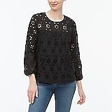 Eyelet Tiered Popover Top