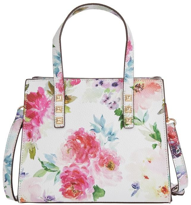 New! Carlos By Carlos Santana Crossbody Tote with Cosmetic Pouch