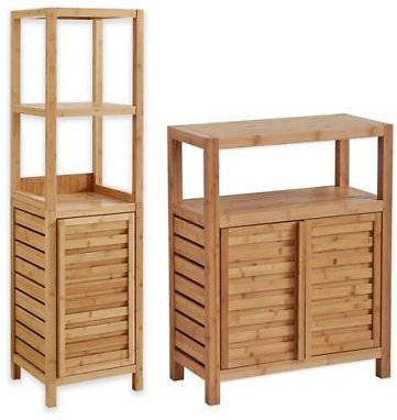 Haven™ No Tools Bamboo Bathroom Furniture Collection   Bed Bath & Beyond