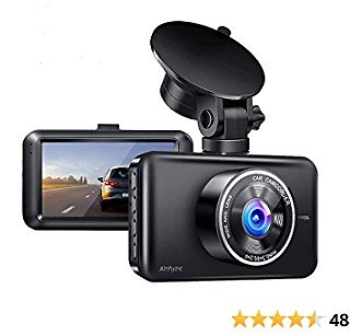 Dash Cam, 1080P Full HD Dash Camera for Cars Front with 3-Inch LCD Screen, Night Vision, 170° Wide Angle, Loop Recording, WDR, G-Sensor, Parking Monitor, Motion Detection