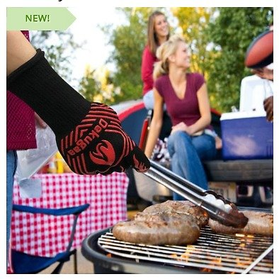 Ultra Heat Resistant Gloves - These Bad Boys Handle Up to 1400 Degrees! Perfect for Grilling, Baking, Cooking or Handling Other Hot Items Indoors and Outdoors! Even Grabbing Hot Logs to Move Them in a Fire (don't Hold Your Hand in Fire. That's..