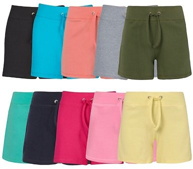 Women's French Terry Bermuda Shorts (4-Pack) (Clearance)