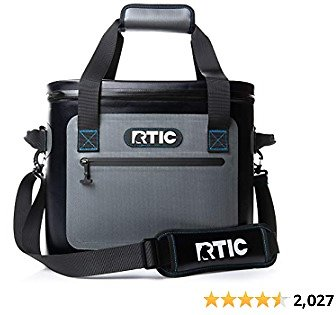 RTIC Soft Cooler 30, Grey, Insulated Bag, Leak Proof Zipper, Keeps Ice Cold for Days