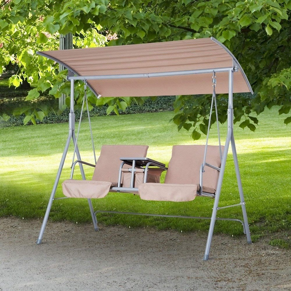 Outsunny 2 Person Water-Resistant Covered Patio Swing
